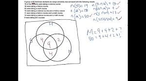 Venn Diagram Math Problems Using Venn Diagrams To Answer Survey Questions