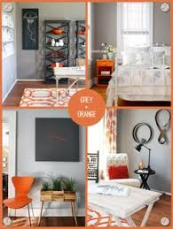 mix grey with a bright colour like orange for impact without overpowering