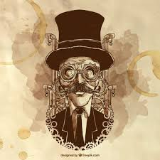 Download <b>Hand Painted Steampunk</b> Man Illustration for free ...