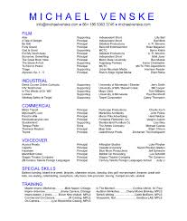 Best Solutions Of Commercial Acting Resume Template Nice Esl