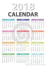 Calendar For 2018 Starts Monday Vector Calendar Design 2018 Year