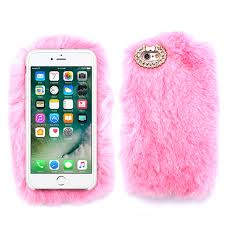 Light Pink Iphone 6 Plus Case Light Baby Pink Soft Fur Case For Apple Iphone 6 6s Plus