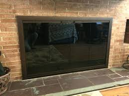 glass fireplace doors open or closed gas door replacement parts screens