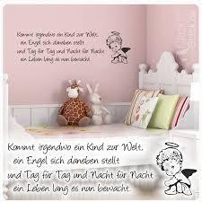 W1555 Wandtattoo Kinderzimmer Engel Spruch Kinderreim Wandaufkleber