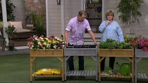 vegtrug herb garden planter with shelf on qvc