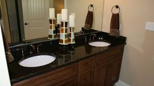 white and black bathroom with yellow accents transitional inside countertop plan 4