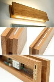 Wood Sconce Light Handmade Oak Wooden Sconce Id Lights