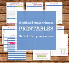 health and fitness planner printables