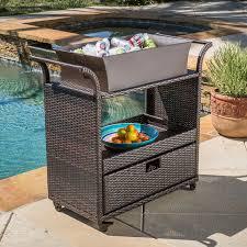 portable patio bar. Amazon.com: Bar Cart Utility Rolling Wheels Wicker Kitchen Island Storage Portable Table Indoor Outdoor Backyard Patio Food Drinks Serving Trolly O