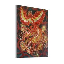 Shop Colorful Brd <b>Fire Phoenix</b> Animal 5D DIY Diamond <b>Painting</b> ...