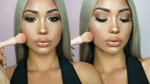 easy kim kardashian makeup tutorial kkw beauty powder contour kit review melly sanchez beauty beauty