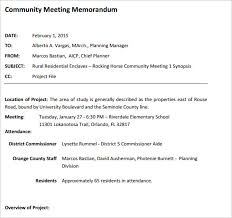 Sample Meeting Memo Template 14 Free Documents In Pdf Word