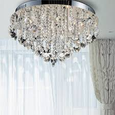 awesome semi flush ceiling lights with crystals luxury new design led for semi flush mount