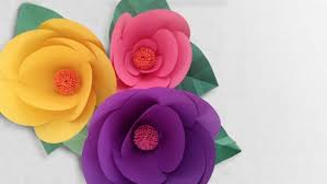 Easy Paper Flower How To Make A Paper Flower Easy Video Guide