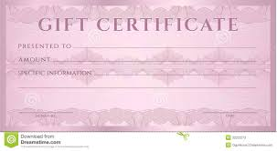 gift certificate voucher coupon template layout guilloche pattern watermarks border background banknote money design spectacular gift