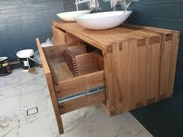 timber bathroom vanity unit