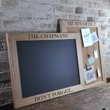 personalised cork or chalk notice board 5th anniversary wood