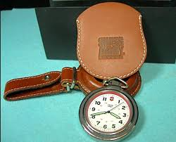 swiss army pocket watch with 2 leather cases astromart