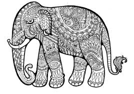Fresh Elephant Mandala Coloring Pages Free Colouring Lovely Adult