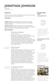 Manufacturing Engineer Resume samples
