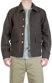 Pike Brothers 1942 Hunting Jacket Melange Wool Brown