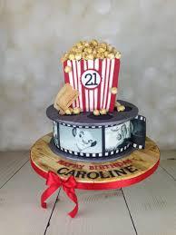 Film Reel And Popcorn 21st Birthday Cake - Mel's Amazing Cakes