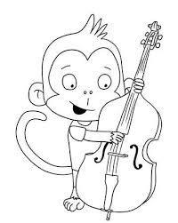 Nettes Mädchen Affe Mit Cello Lizenzfreie Fotos Bilder Und Stock