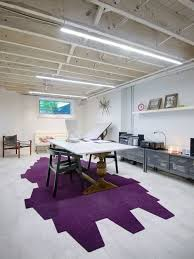 basement home office. inspiration for a large scandinavian freestanding desk porcelain floor and white home office remodel in basement