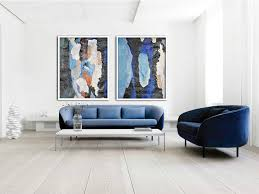 set of 2 large abstract painting canvas art contemporary art wall decor original art