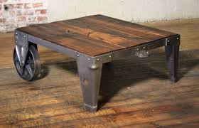 cart coffee table authentic vintage industrial cart coffee table factory wood steel and iron for 2 cart coffee table australia