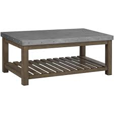 metal top coffee table. Standard Furniture Riverton Accent Tables Metal Top Cocktail Table Coffee