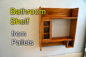 Shelves Made From Pallets Bathroom Shaving Shelf From Pallet Wood How To Youtube