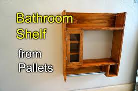 Diy bathroom furniture Vanity Youtube Bathroom Shaving Shelf From Pallet Wood How To Youtube