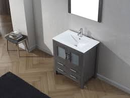 30 Bathroom Cabinet Virtu Usa Dior 30 Single Bathroom Vanity Set In Zebra Grey