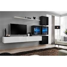 modern wall tv display living room unit high gloss furniture switch xix free p p