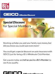 bjs whole club geico auto insurance a for members milled