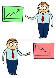 Chart Cartoon Business Chart Cartoon Stock Illustration Illustration Of