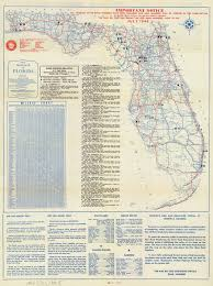 Florida Memory Official Road Map Of Florida 1946