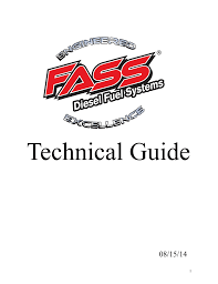Technical Guide Fass Fuel Systems