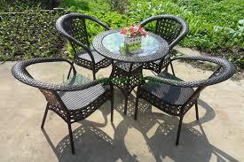 patio rattan table chair outdoor garden