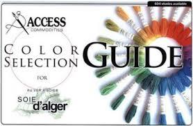 Soie D Alger Colour Chart Embroidery Silk Color Card The Whole Palette