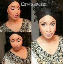 name is deziredbeauty tonto h wears a simple makeup that features a winged eyeliner blush and lips by dave insram makeup artist