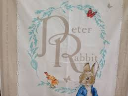 22 best Fabric panels at Quilting By Fiona images on Pinterest ... & Peter Rabbit Beatrix Potter Cot Panel, 35
