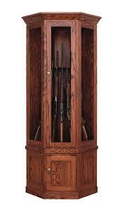 Amish Wooden Corner Gun Cabinet From Dutchcrafters