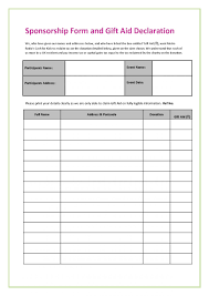 Free Donation Formates In Word Excel Pdf Sponsorship