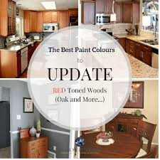 the best paint colours and ideas to update red or cherry toned oak wood