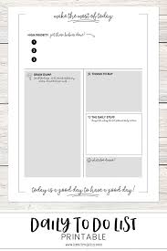 Get More Done Daily To Do Sheet Printable Kendra John Designs