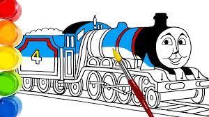 Learn colors with mcqueen truck educational video colours for kids to learn. Thomas Friends Gordon Train Drawing And Coloring For Kids Toddlers Learn Colors Youtube