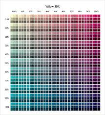 Cmyk Color Chart Pdf Free Download In 2019 Cmyk Color