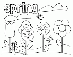 Spring Coloring Page For Kids Seasons Pages Printables Spring